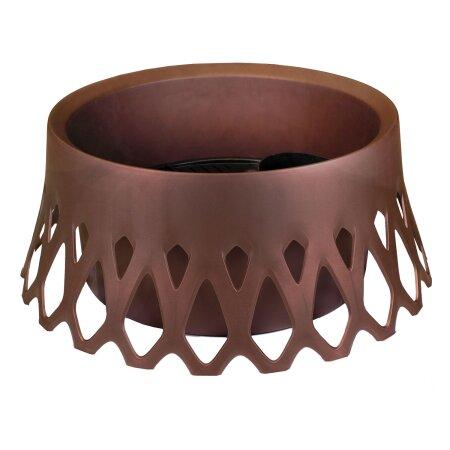 Kunststoffgrabschale mit Wasserspeicher 40cm Bronze