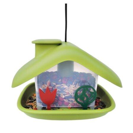 Vogelfutterhaus Domek grün