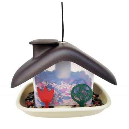 Vogelfutterhaus Domek braun