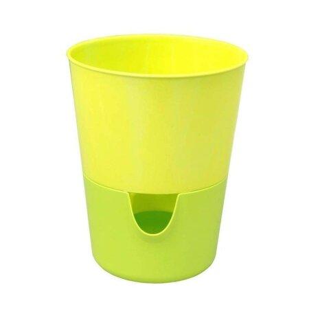 Selbstbewässernder Kräutertopf Rosmarin für frische Kräuter  Ø 11 cm grün