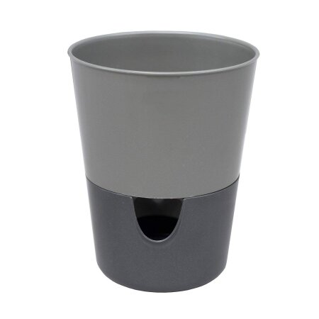 Selbstbewässernder Kräutertopf Rosmarin für frische Kräuter  Ø 11 cm anthrazit